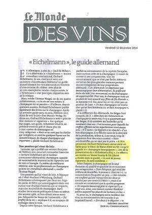 Le Monde des Vins 12/12