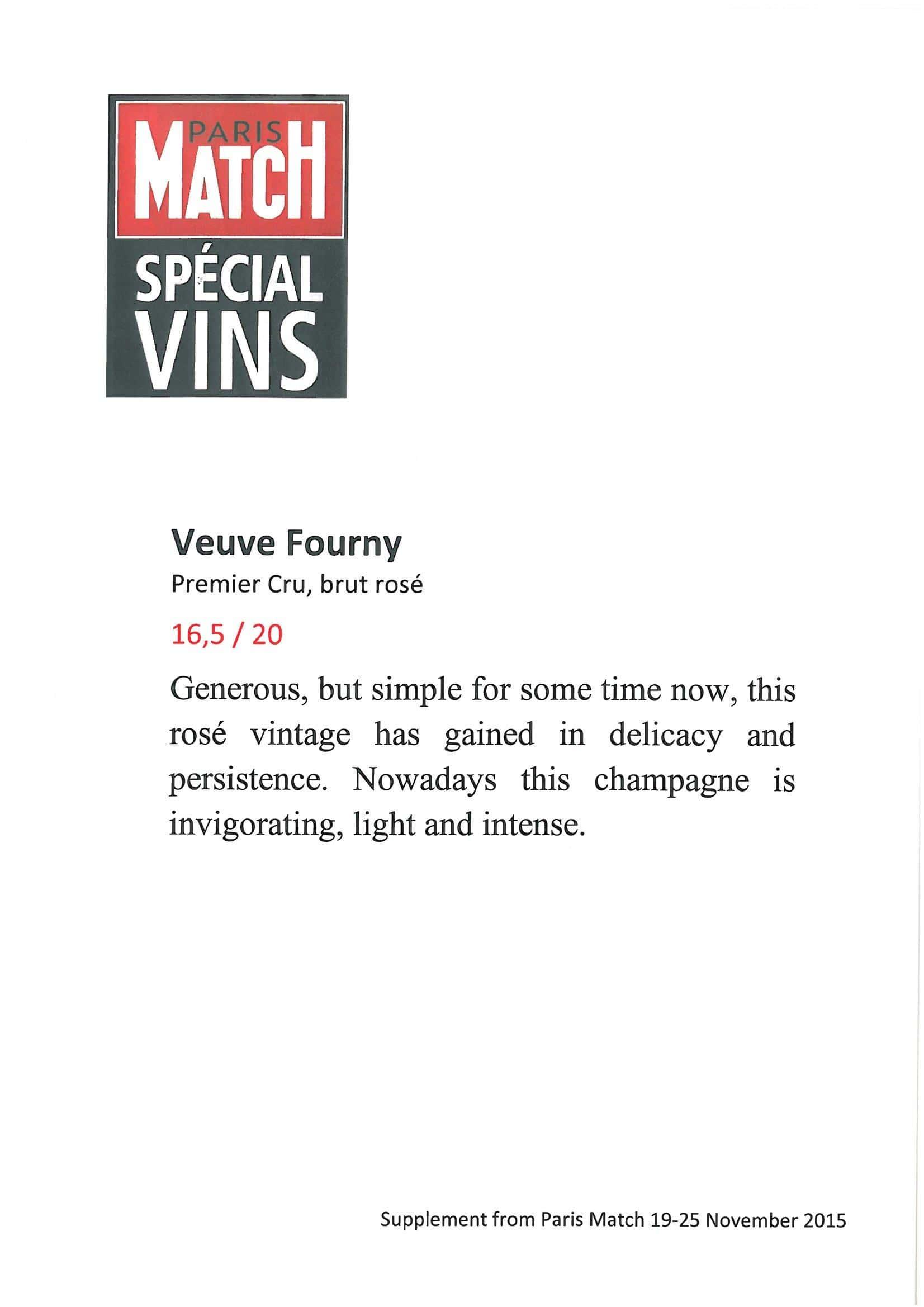 Paris Match, Spécial vins