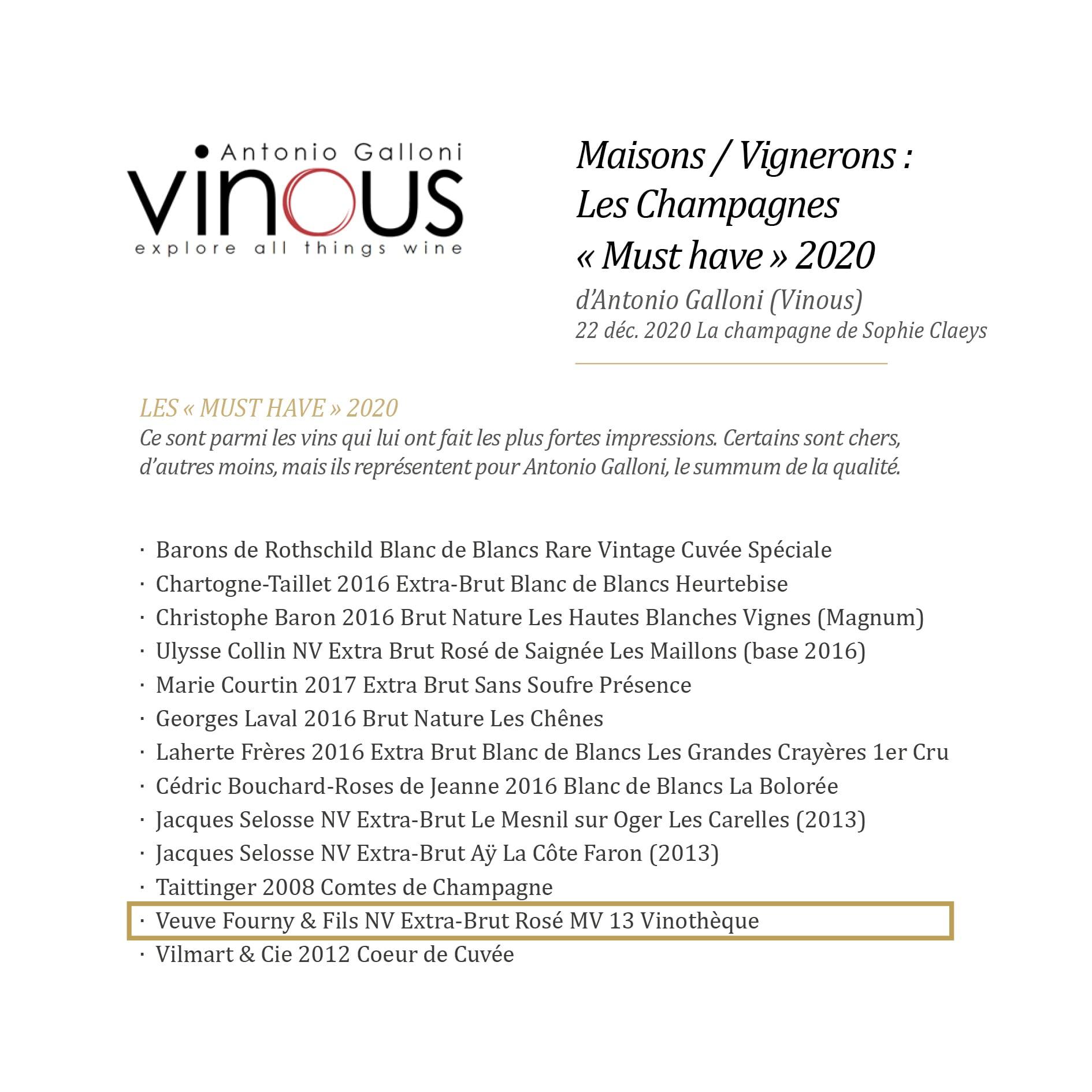 Vinous - must have